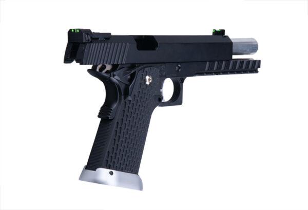 Pistol Airsoft KJW KP-06 1.2J Green Gas Cu Recul Metal/Polimer Negru