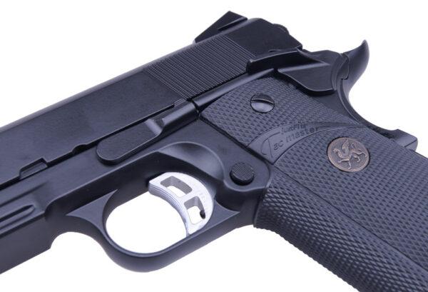 Pistol Airsoft KJW KP-07 1.5J Green Gas Cu Recul Metal Negru