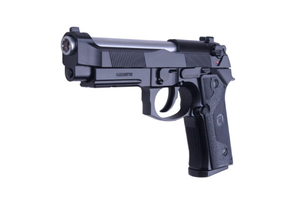 Pistol Airsoft KJW M9 IA Elite 1.2J Green Gas Cu Recul Metal Negru/Argintiu