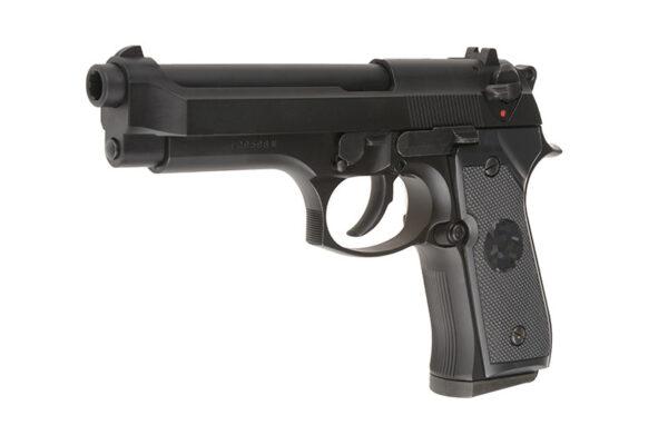 Pistol Airsoft TokyoMarui M92F Military 0.8J Green Gas Cu Recul Metal/Polimer Negru