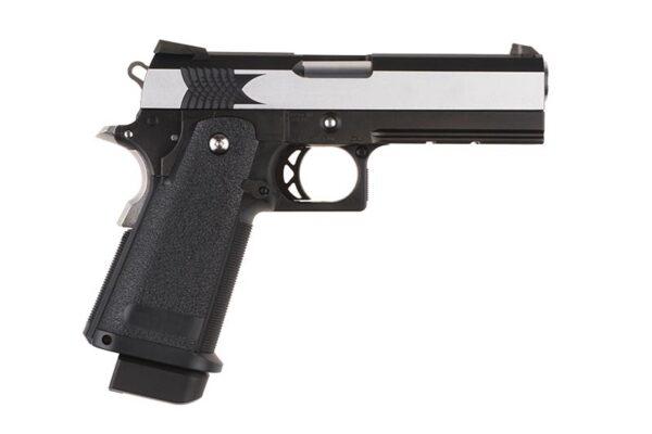 Pistol Airsoft TokyoMarui High Capa Extreme (Full Auto) 0.9J Green Gas Cu Recul Metal/Polimer Negru/Argintiu