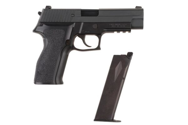 Pistol Airsoft TokyoMarui E2 0.9J Green Gas Cu Recul Metal/Polimer Negru