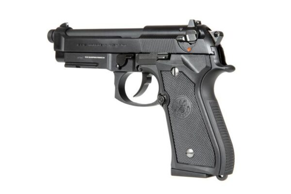 Pistol Airsoft G&G GPM92 GP2 1J Green Gas Cu Recul Metal Negru