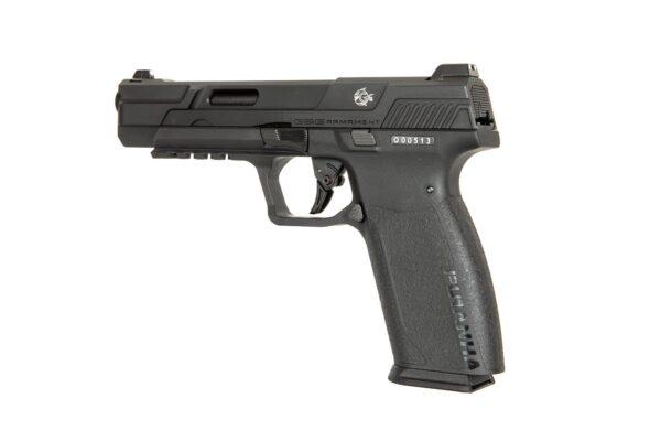 Pistol Airsoft G&G Piranha MK I 1J Green Gas Cu Recul Metal/Polimer Negru