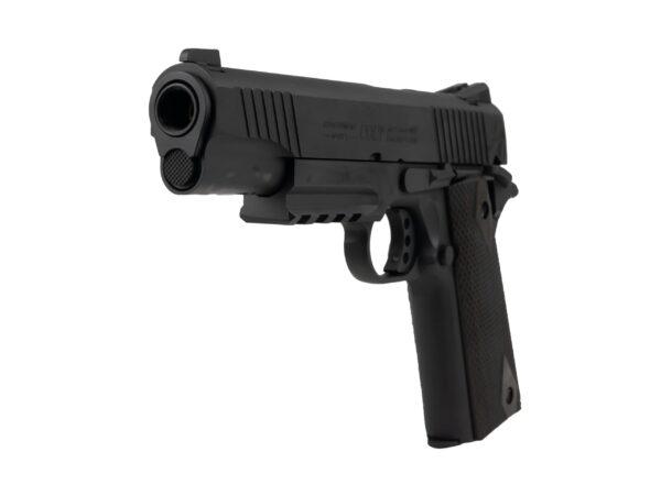 Pistol Airsoft Cybergun COLT 1911 Rail gun ® 1J CO2 Cu Recul Metal Negru