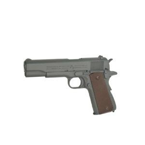 Pistol Airsoft Cybergun COLT 1911 100Th Anniversary 1J CO2 Cu Recul Metal Gri