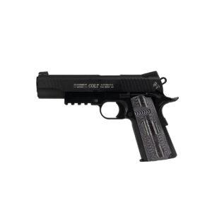 Pistol Airsoft Cybergun COLT 1911 Combat Unit 1J CO2 Cu Recul Metal Negru