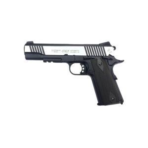 Pistol Airsoft Cybergun COLT 1911 Rail Gun ® 1J CO2 Cu Recul Metal Gri/Argintiu