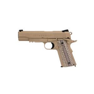 Pistol Airsoft Cybergun COLT 1911 M45A1 1J CO2 Cu Recul Metal Tan