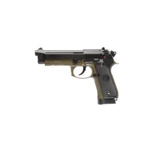 Pistol Airsoft KJW M9A1 1.2J CO2 Cu Recul Metal Negru/Verde