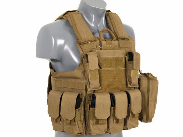 Vesta Tactica 8FIELDS CP Combat Modular Armor System Tan