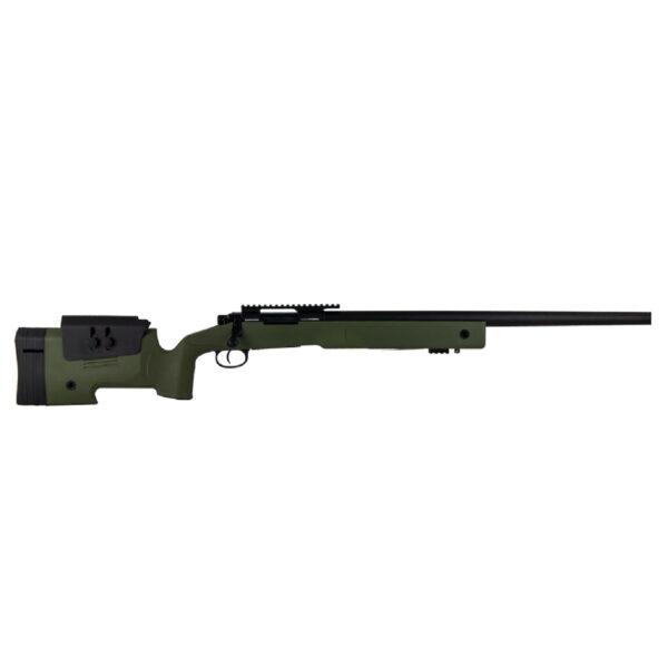 Sniper Airsoft, Cybergun, FN SPR, 1.7J, Verde