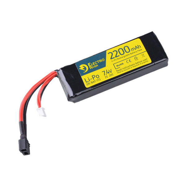 Acumulator LiPo Electro River 7.4V 2200mAh 20C Deans