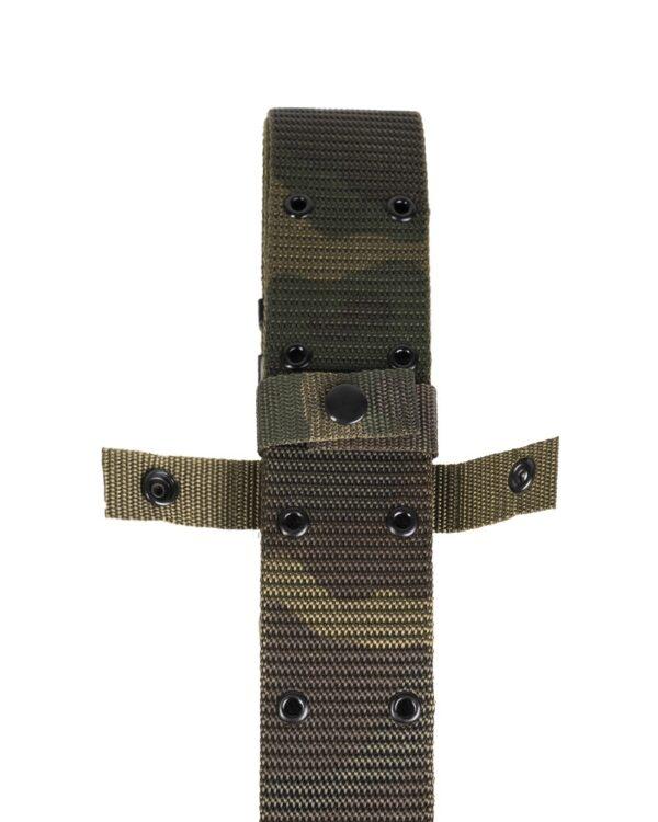 Curea Tactica MilTec US LC2 PISTOL BELT 120×5.5cm Woodland L