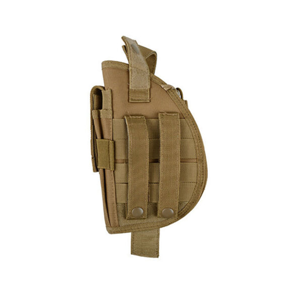 Toc pistol GFC Universal, Prindere MOLLE, cu port incarcator TAN