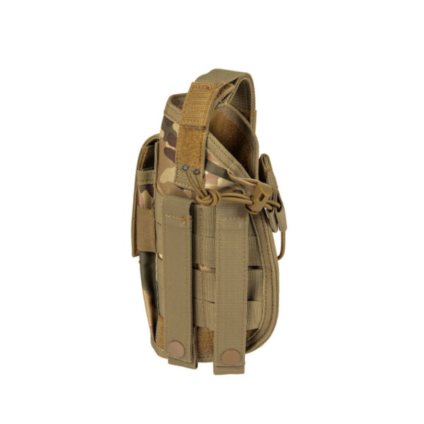 Toc pistol GFC Universal, Prindere MOLLE, cu port incarcator Multicam