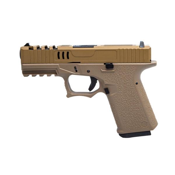 Pistol Airsoft AWCustom VX9 mod 2 1J Green Gas Cu Recul Metal/Polimer Tan