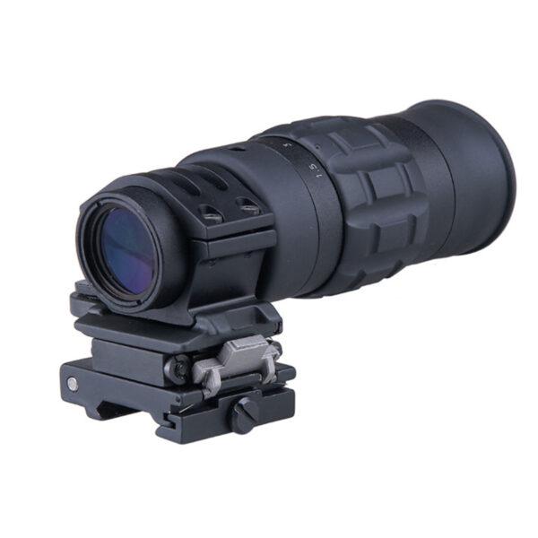 Magnifier GFC 1-5 x 22, Fara reticul, Prindere RIS , Montura flip-to-side, Negru